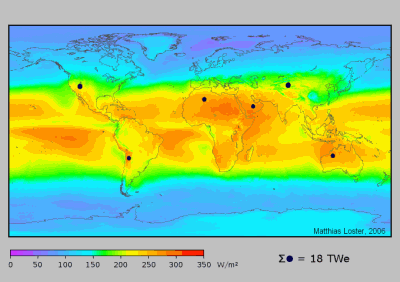 solar map of the world