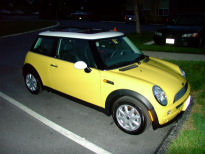 emma, my 2004 liquid yellow mini cooper