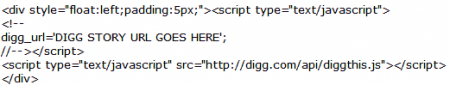 wordpress digg integration code