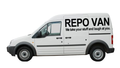 repo van - we take your stuff and laugh at you