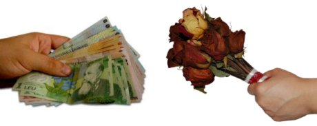 i trade you large money bills for small flowers